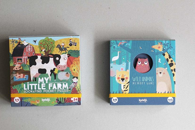My Little Farm Puzzle / Wild Animals Memory game