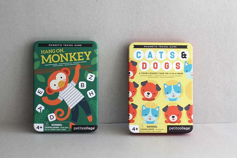 Hang on, Monkey / Cats and Dogs Magnetic travel game