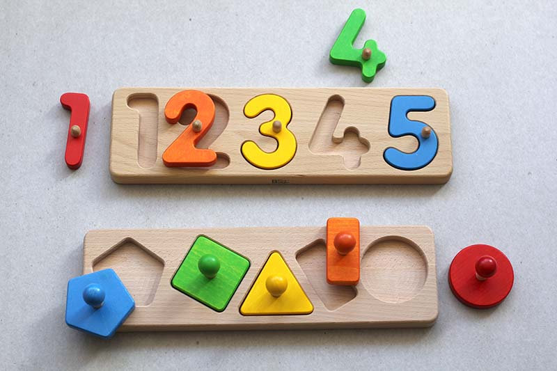 Numbers and Shape Sorters