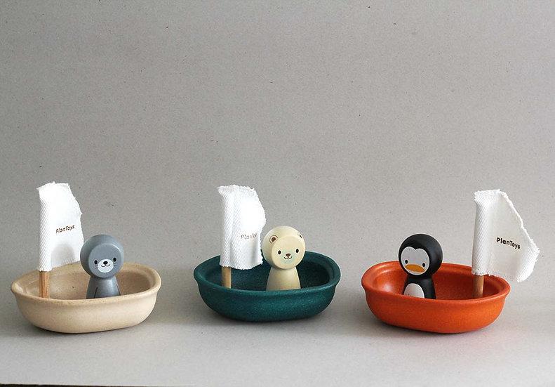 Wooden Bath Toy Boats