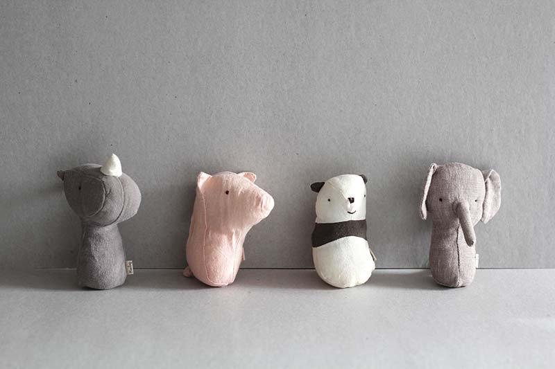Mini Soft Rattles - Noah's Friends