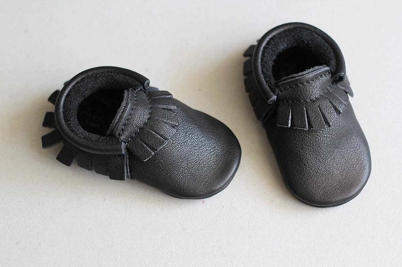 Moccasins - Black Leather