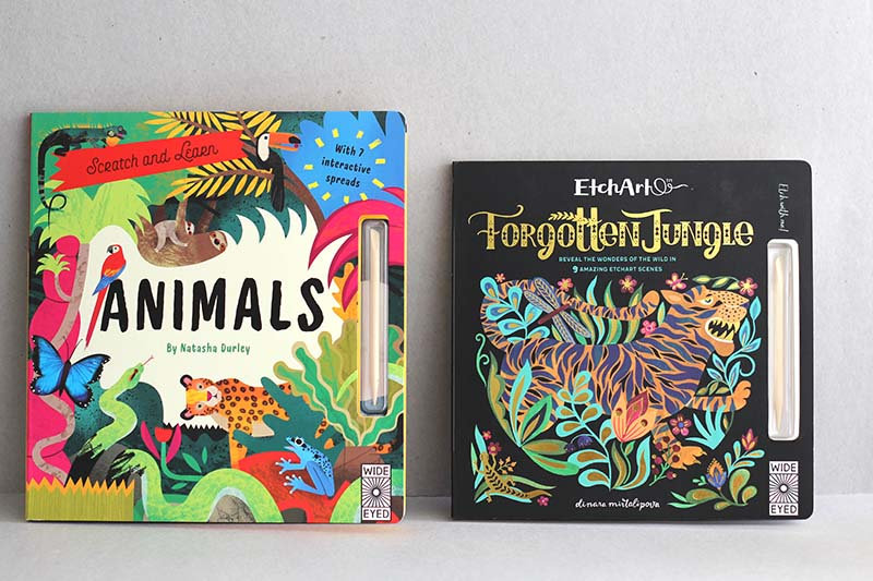 Animals - Scratch and Learn /  Forgotten Jungle - Etch art