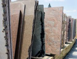 Colorful granite slabs for sale in store