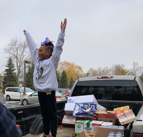Excited for the food drive