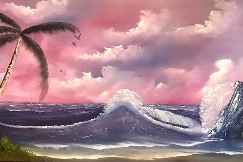 Ocean Palm By David Hunt