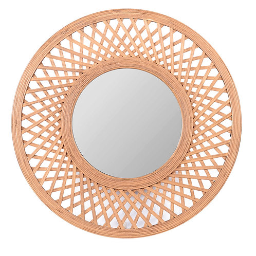 Miroir bambou tresse plat cancun diam 75 ep 2.5 cm