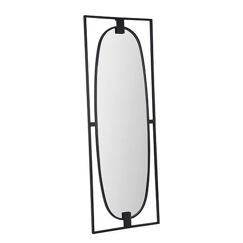 Miroir Géométrie noir 120x43 cm