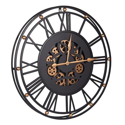 Horloge noire grand modèle 60 cm