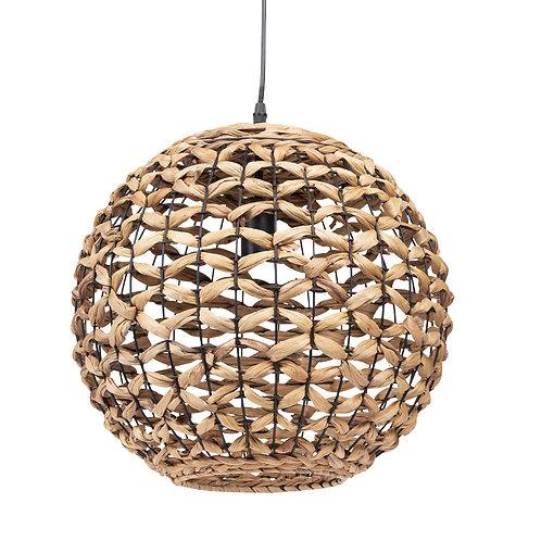 Suspension boule en fibres naturelles 40 cm