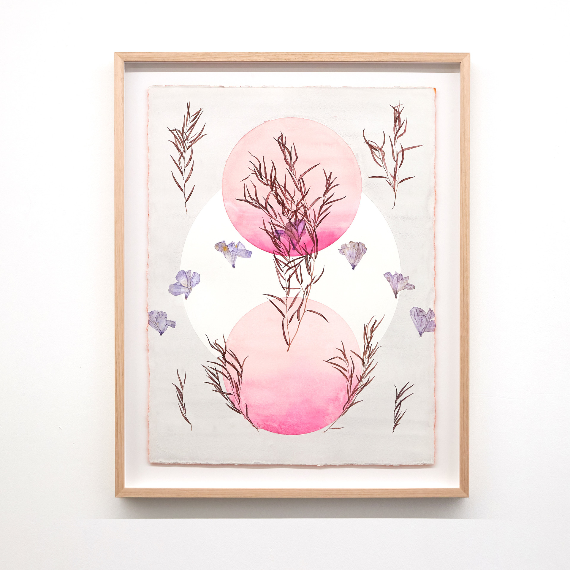 For Hilma af Klint and The Seven Sisters (Eventide) 2020 Watercolour on 640gsm cotton rag, sprayed en verso, 890mm H x 707mm W x 30mm D (framed dimensions).