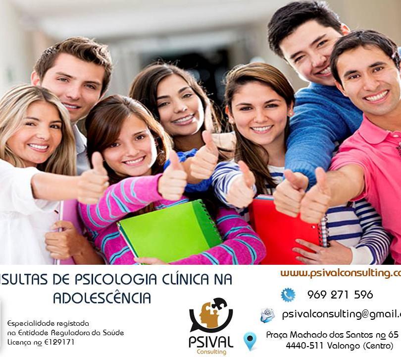 Consulta de psicologia clínica para adolescentes.