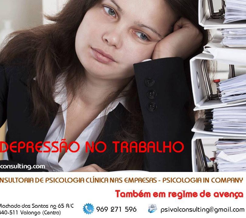 Depressão no trabalho.