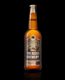 bottiglia di birra con Gold Label