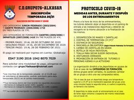 INSCRIPCIONES GRUPO76-ALKASAR (NACIDOS ENTRE 2005 Y 2008)