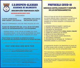 INSCRIPCIONES ACADEMIA DE BALONCESTO GRUPO76-ALKASAR 2020/2021