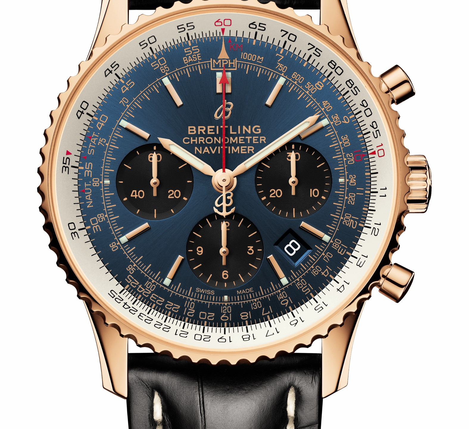 B01 Chronograph 43 in 18k red gold