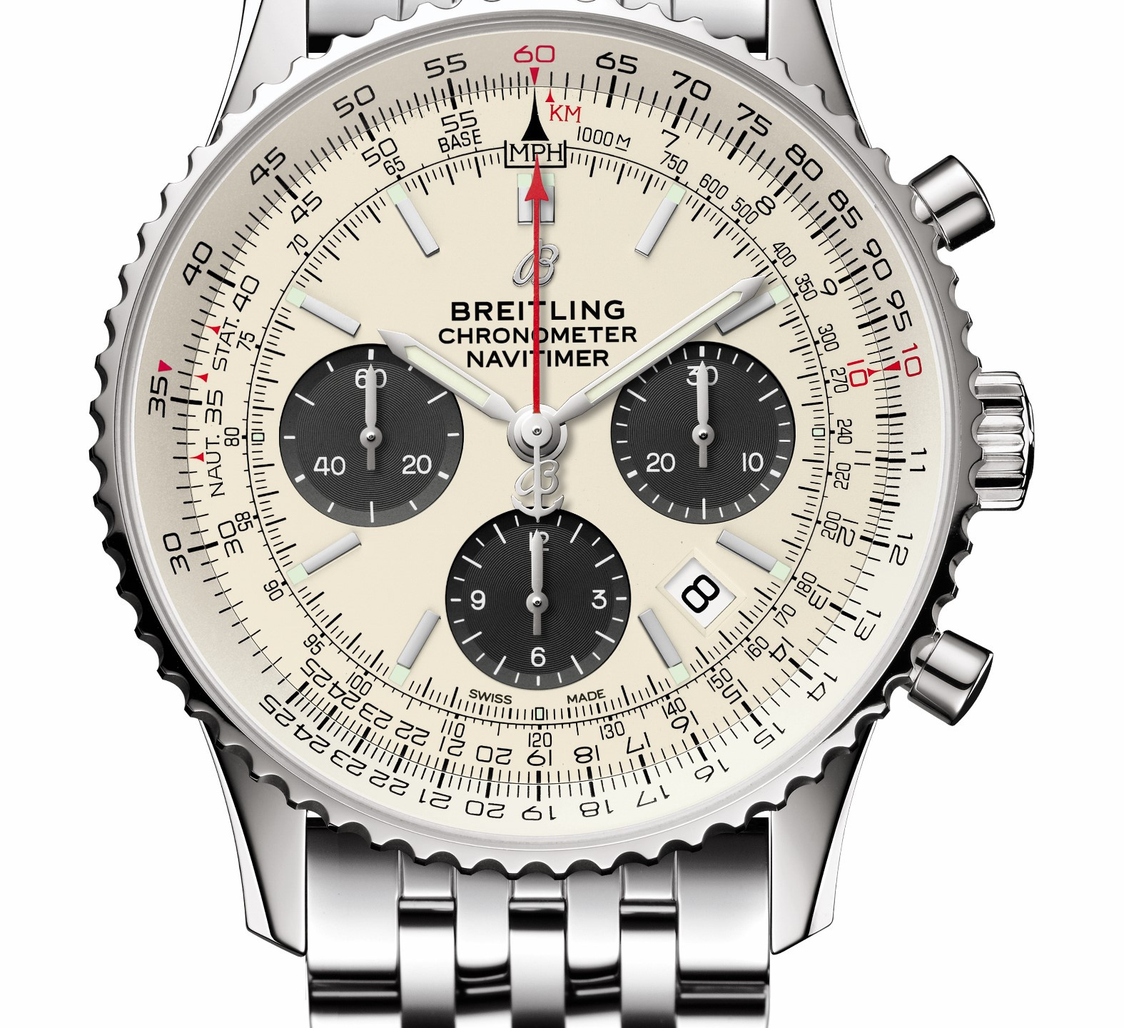 B01 Chronograph 43 with silver dial