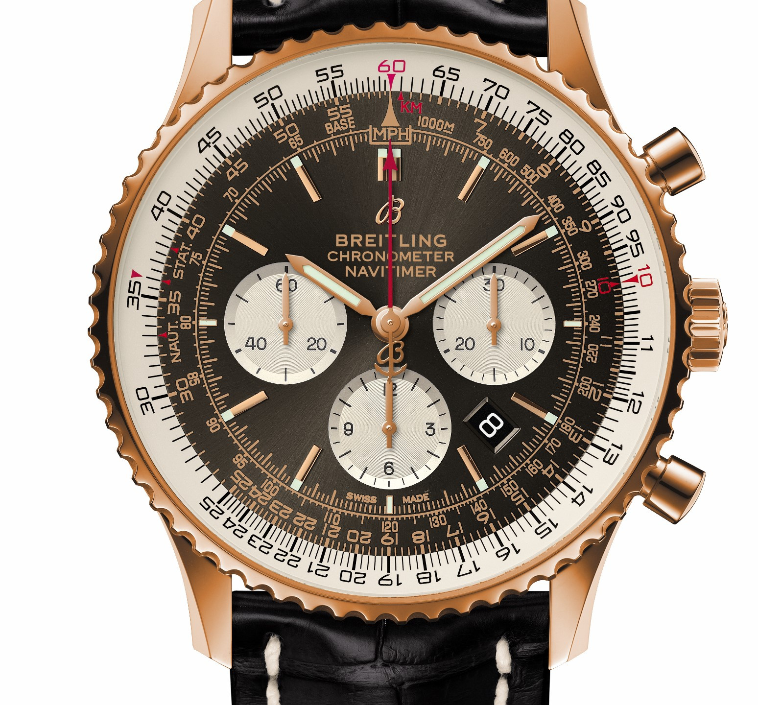 B01 Chronograph 46 in 18k red gold