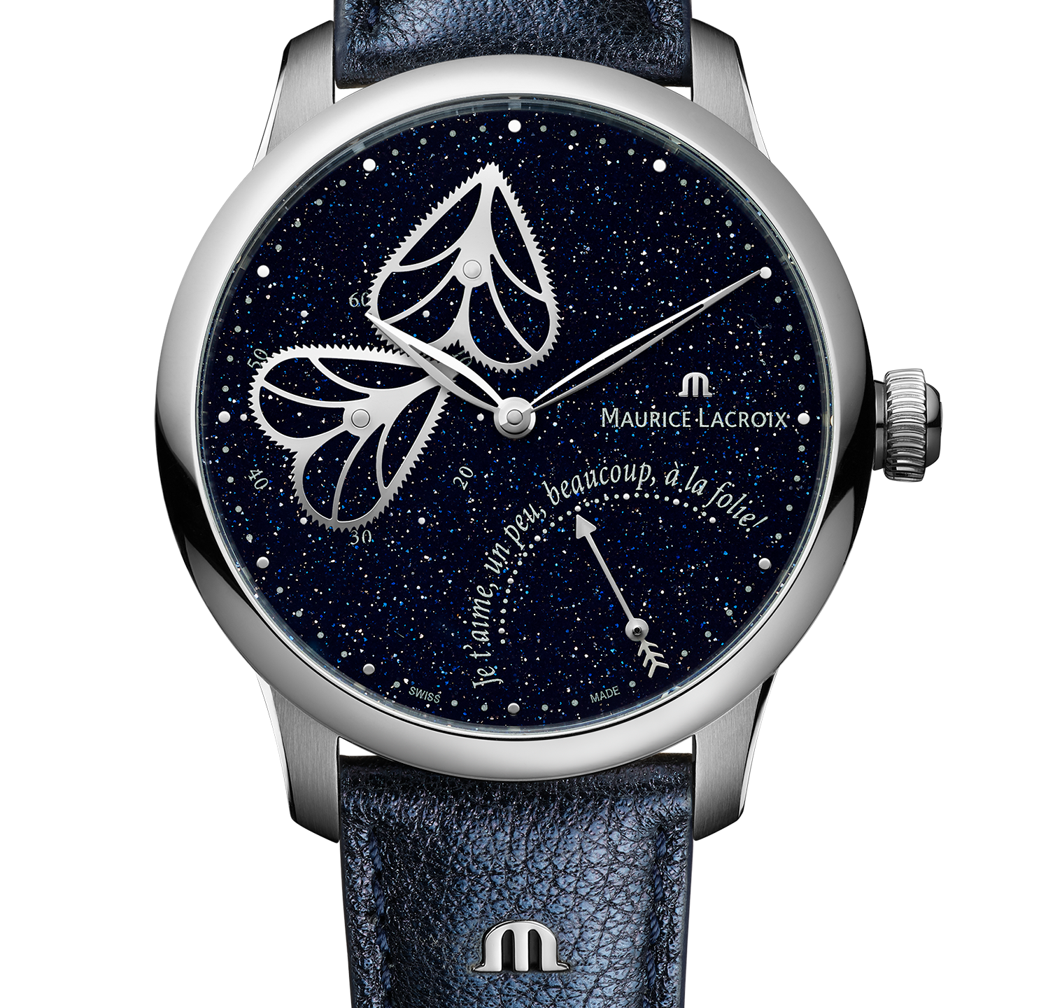 Masterpiece Embrace with blue aventurine dial