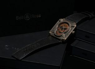 Bell & Ross BR01 Burning Skull Bronze骷髅腕表限量发行