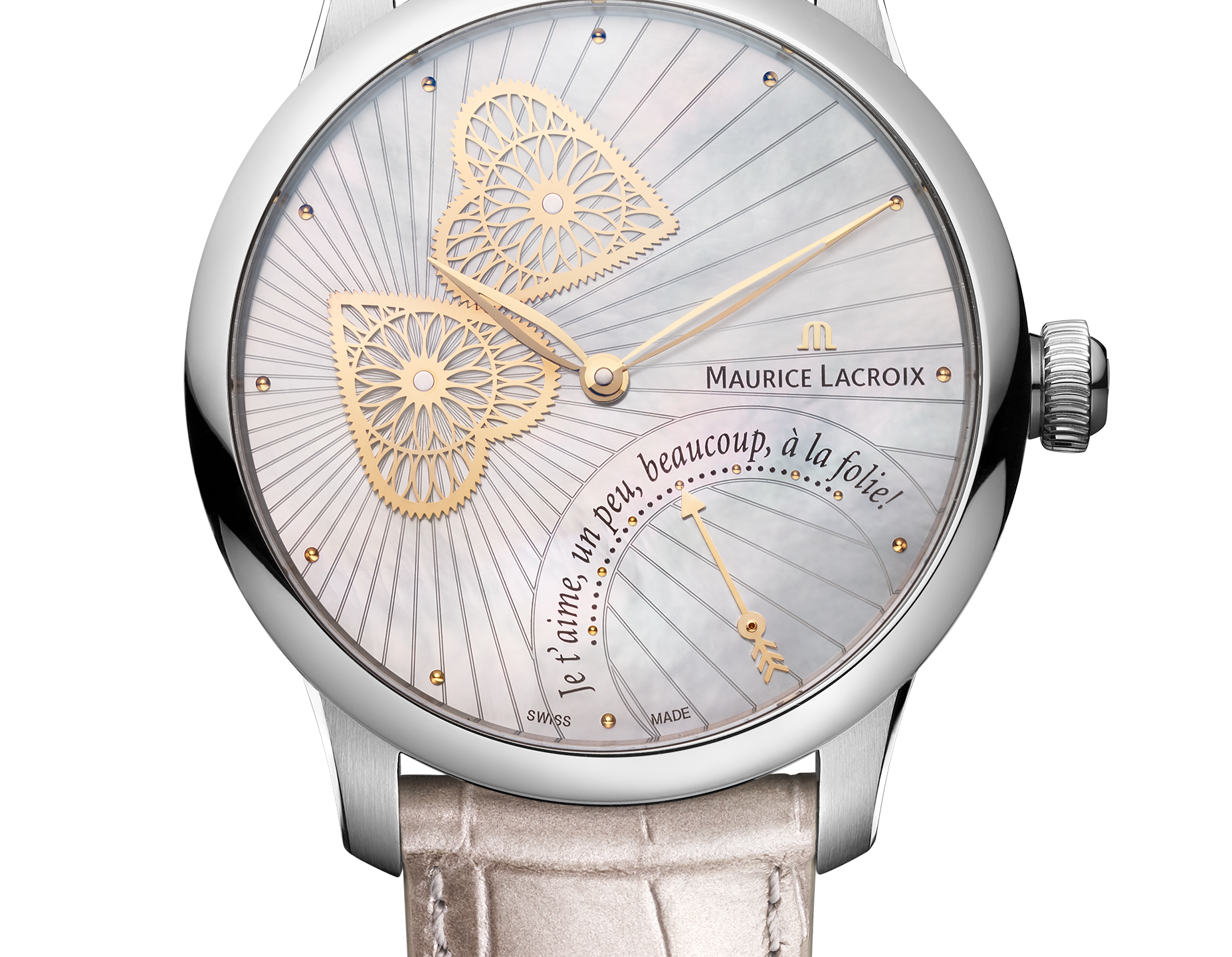 Masterpiece Embrace with mother of pearl dial