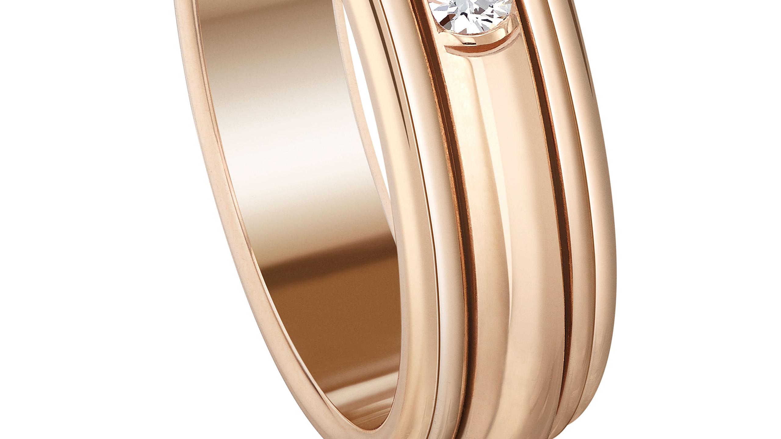 Possesion 18K玫瑰金项链戒指