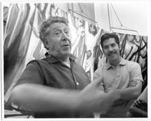 Siqueiros y Márquez en la Tallera 1, 1970