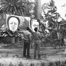Proceso de pintura barda mural, 1970