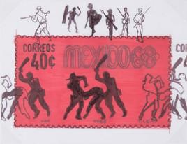 Boceto para Estudiante Golpeado, 1968