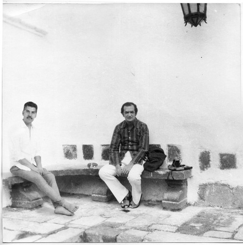 Humberto Márquez y Omar Rayo en Roldanillo, Colombia.