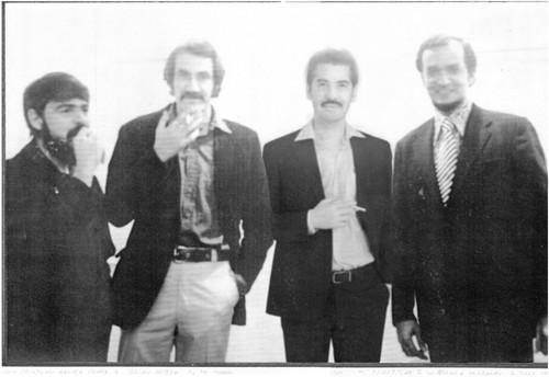 Fernando García Ponce, Briannissen, Humberto árquez y Omar Rayo en el Museo de Arte Moderno, México