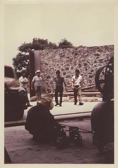 Siqueiros, Orozco y Márquez en La Tallera. Cuernavaca, Morelos. 1967