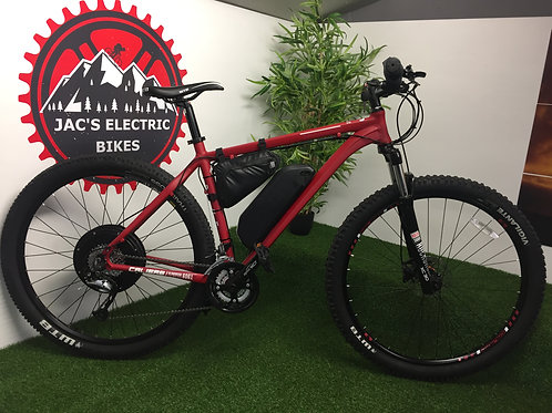 58v 2000W CALIBRE RAKE FAST ELECTRIC MOUNTAIN BIKE 40MPH + EBIKE BLUETOOTH
