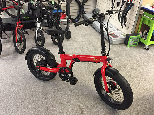 E-GO MAX+ FOLDING ELECTRIC BIKE AVAILABLE IN BLACK / RED / WHITE