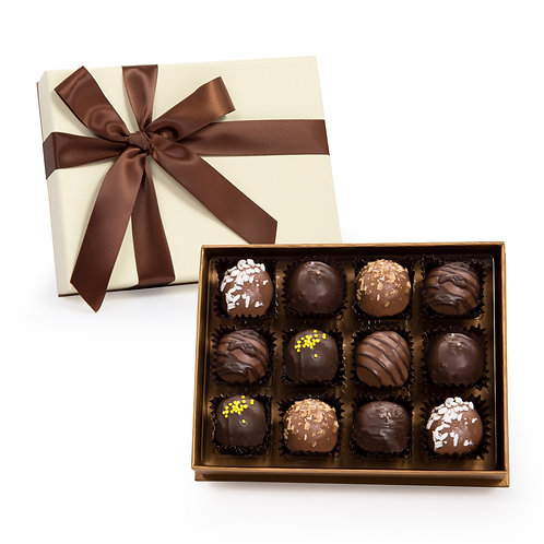 Cream & Gold Deco Truffle Box