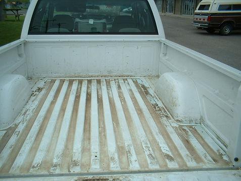Before Coating Truck Bedliner