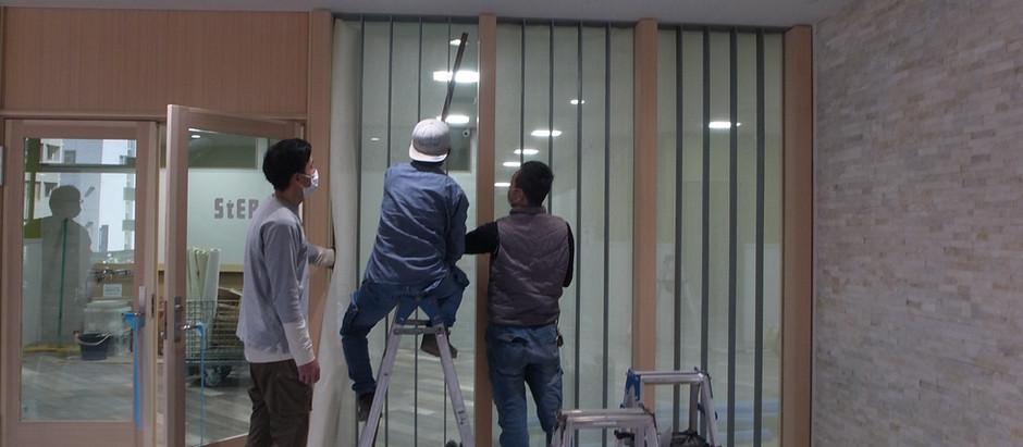 ビルEVホール改修 一期工事終了
