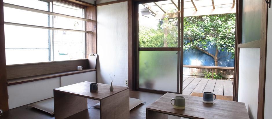 KAMOSUカフェスペース準備