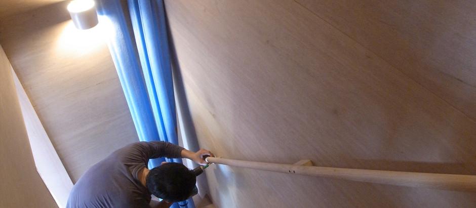 新河岸の家 階段手摺