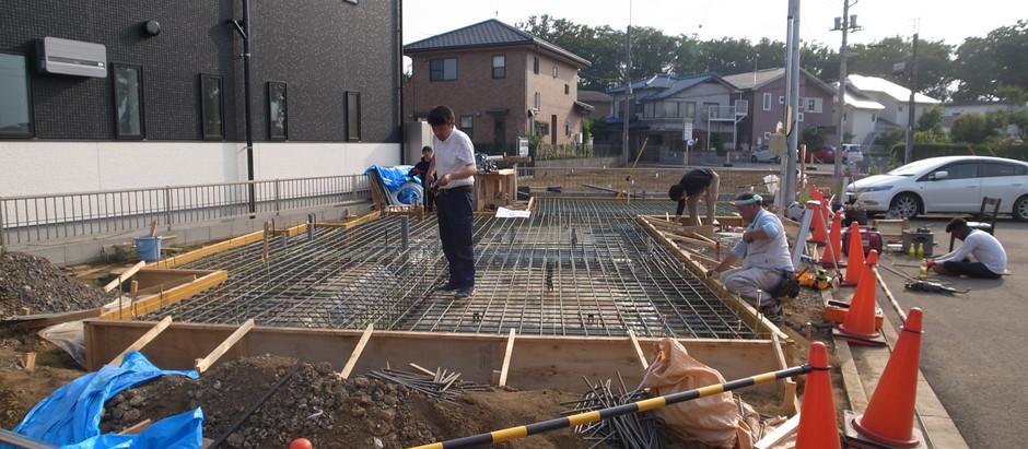 新河岸の家 配筋検査