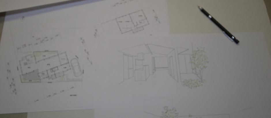 新河岸の家 ラフプラン