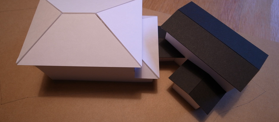 片瀬目白山の家 プレゼン用模型の製作
