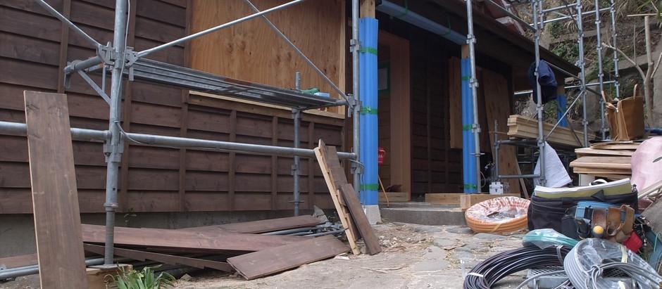 稲村ガ崎リノベーション オフィス窓・引き出し家具の確認