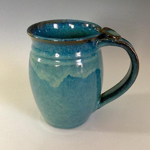 Floating Blue Stoneware Mug