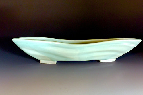 Porcelain Celedon Wave Vessel