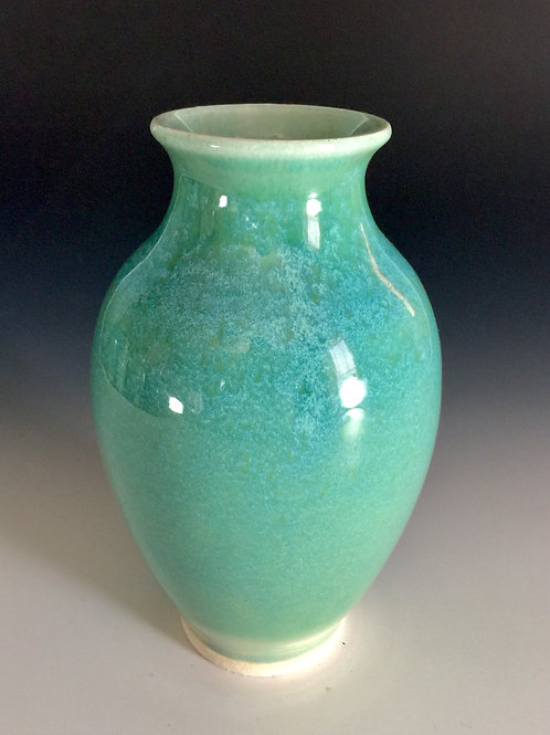 Floating Blue Porcelain Vase