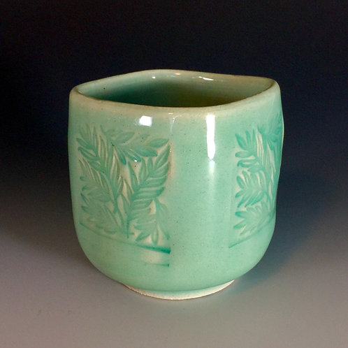 Leaf Design Porcelain Teabowl