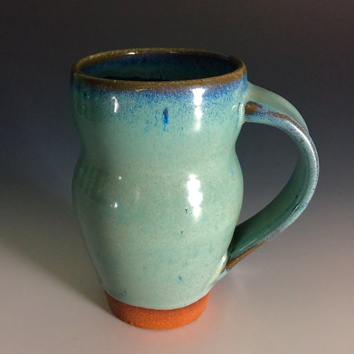 Floating Blue Stoneware Mug