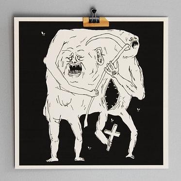 NOT DERELOR print, 27 x 27 cm.